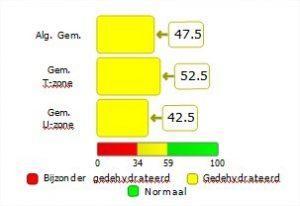 Huidanalyse resultaat in grafiekvorm