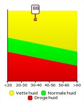 Huidanalyse resultaat in tabeloverzicht