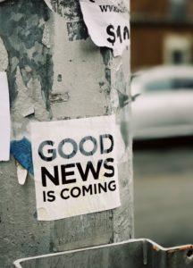 Goed nieuws